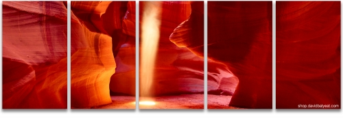 Antelope Canyon ghost ancient spirit panoramic fine art photography