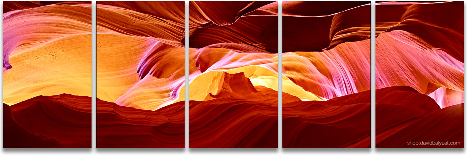 Antelope Canyon Monument Valley abstract rock formations panoramic