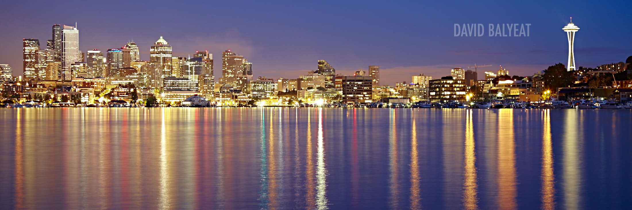 Lake Union Seattle skyline space needle high-definition HD cityscape photography