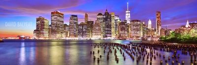 Lower Manhattan New York City skyline panoramic photography