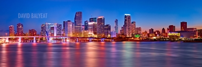 Miami skyline high-definition HD professional cityscape photography
