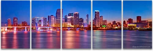 Miami skyline high-definition HD professional landscape photography