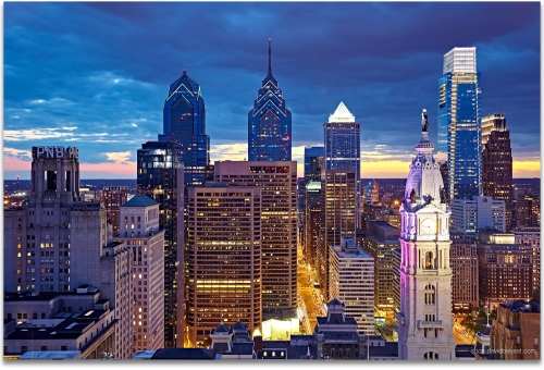 Philadelphia Skyline high definition HD professional landscape photography