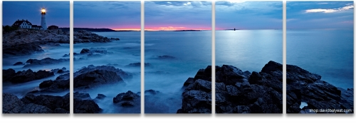 Portland Head Lighthouse Maine sunrise panoramic high-definition fine art photography