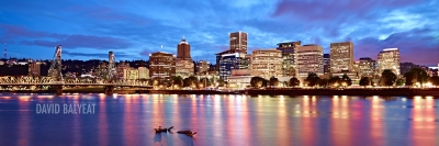 Portland skyline panoramic high-definition HD professional cityscape photography
