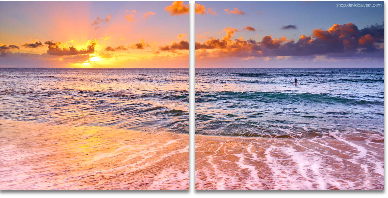 Sunset Beach Northshore O'ahu Hawaii high-definition HD professional landscape photography