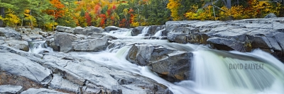 Swift River waterfalls New Hampshire Kancamagus fall foliage panoramic fine art photography