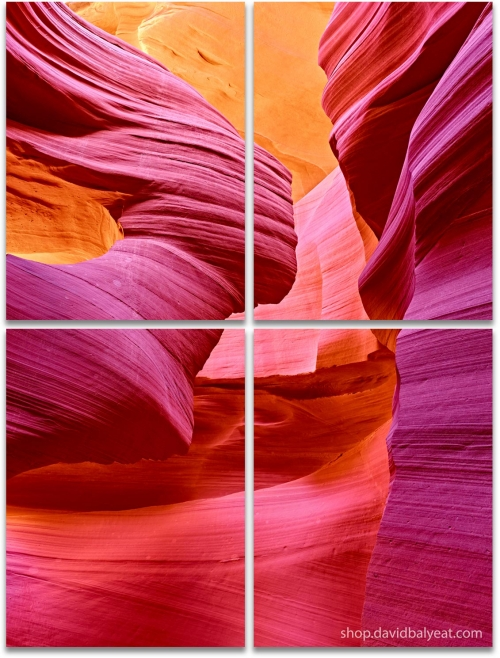 Antelope Canyon Earth Angel vertical large 4-panel artwork