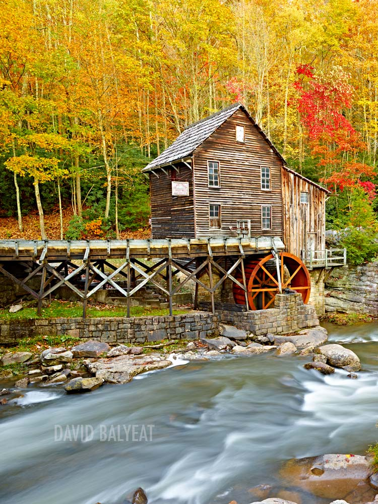 Babcock Mill Babcock State Park Autumn fall foliage high-definition HD landscape photography