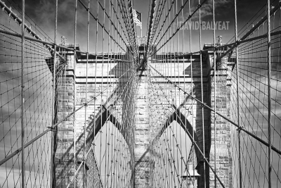 Brooklyn Bridge New York City black and white high-definition HD professional landscape photography