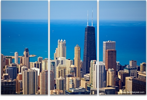 Chicago skyline aerial Lake Michigan high-definition HD cityscape photography