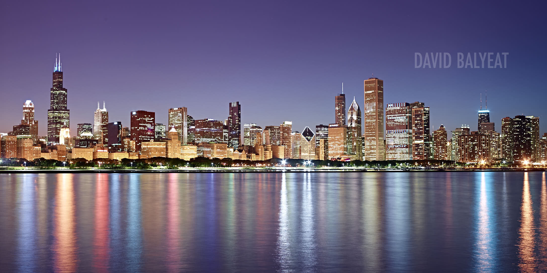 Chicago skyline reflections structural expressionism cityscape photography