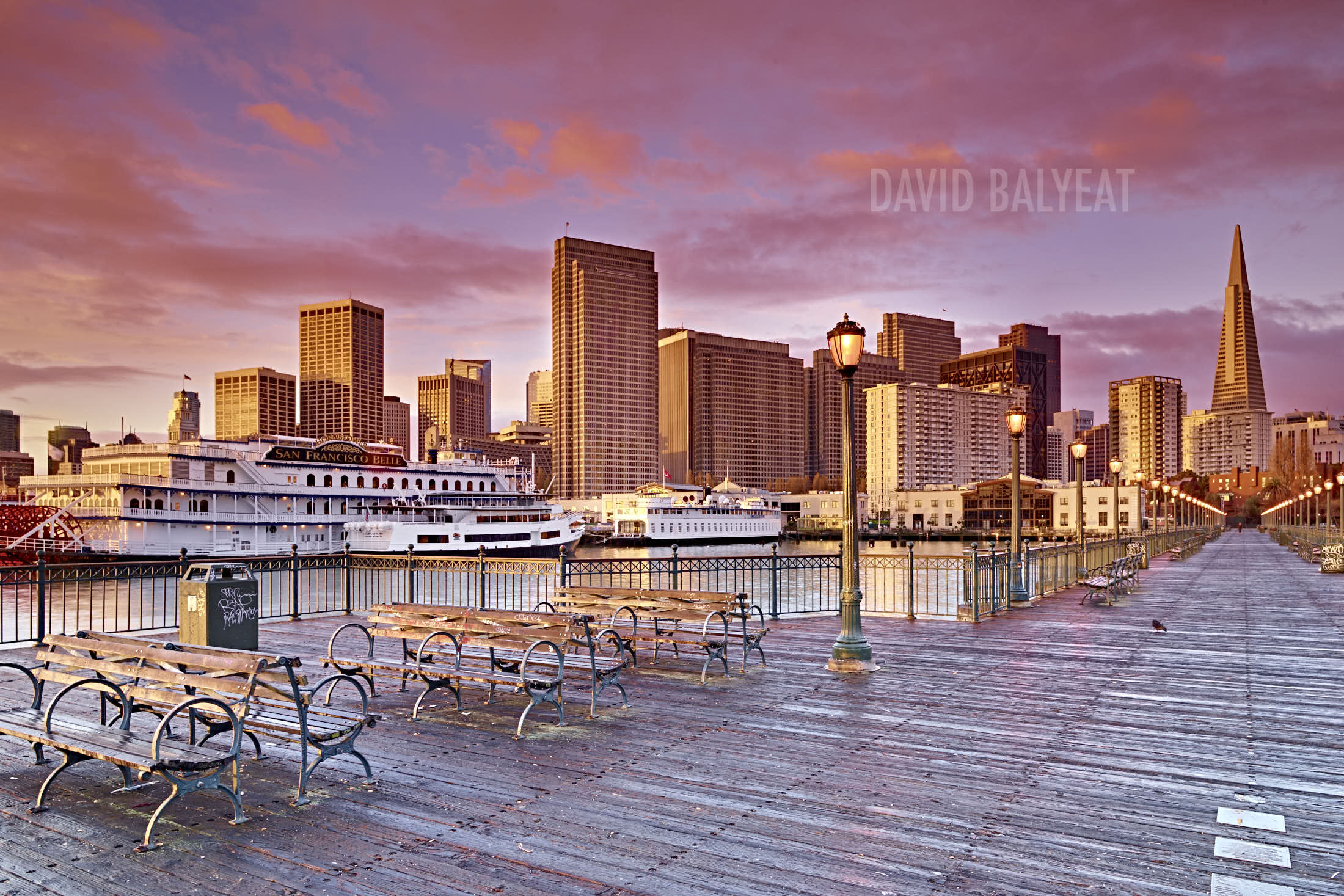 City of Gold San Francisco Embarcadero Pier #7 cityscape photography