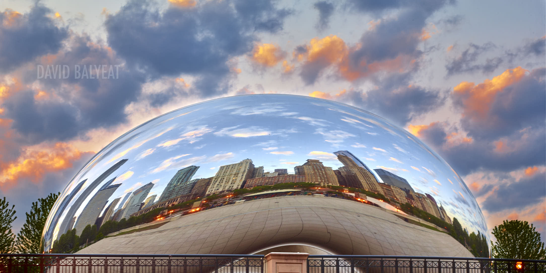 Cloud Gate bean sculpture Chicago Millenium Park fine art cityscape photography