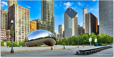 Cloud Gate Millenium park chicago skyline high definition HD cityscape photography
