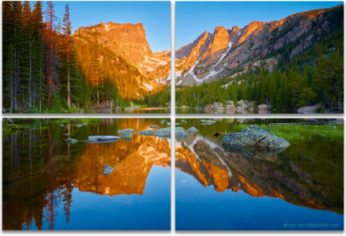 Dream Lake Rocky Mountain National Park Colorado 4-panel artwork