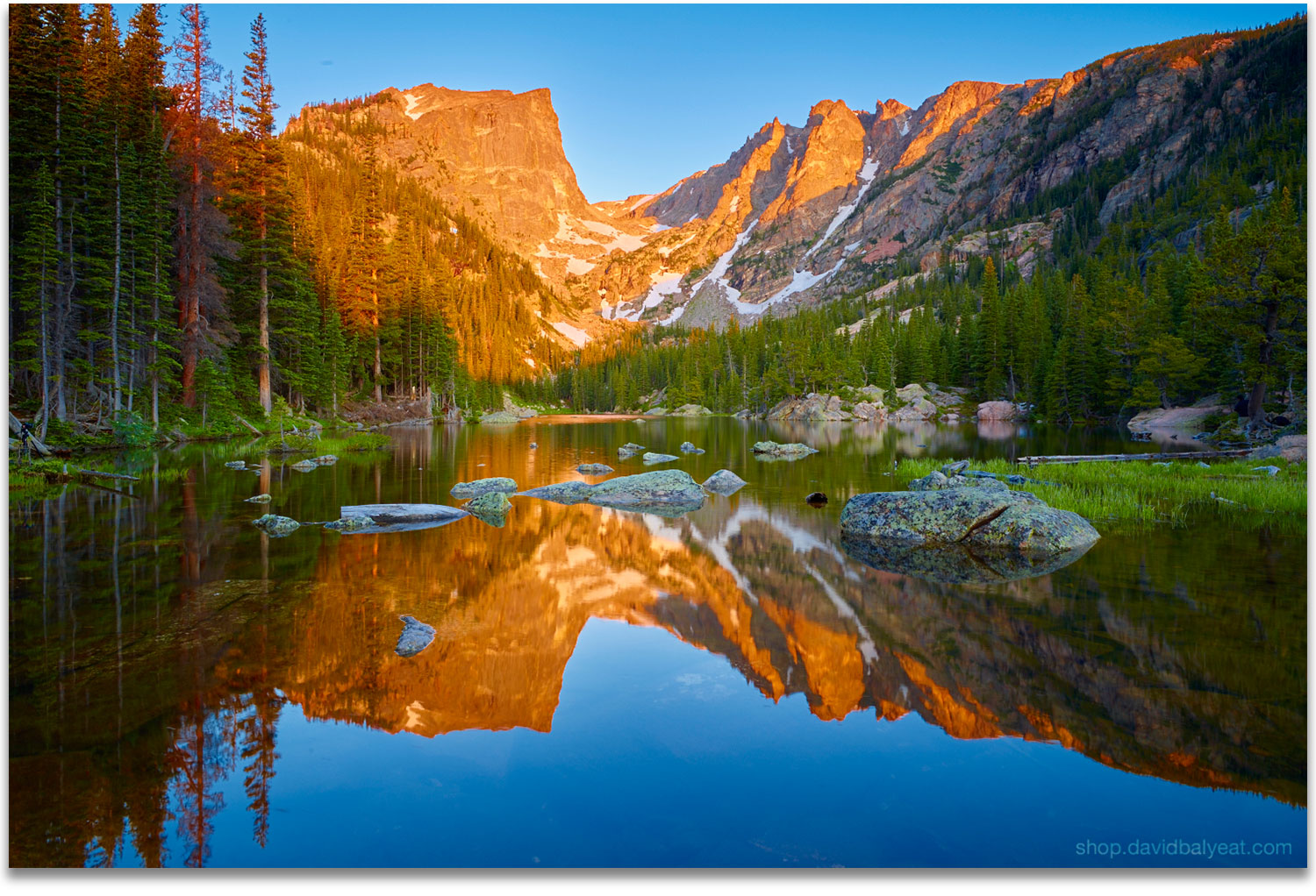 Dream Lake Rocky Mountain National Park Colorado artwork