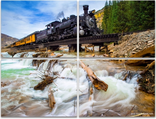 Durango Silverton Narrow Gauge Railroad train Colorado