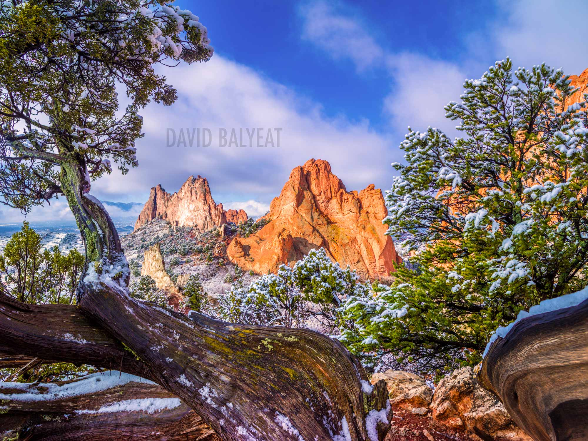 Garden of the Gods snow Colorado high-definition HD professional landscape photography