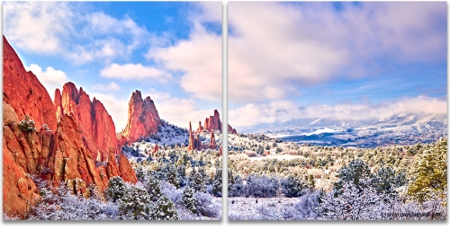 Garden of the Gods winter snow high-definition HD professional landscape photography