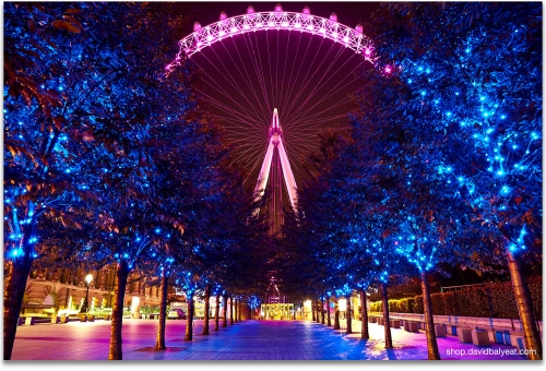 London Eye Jubilee Gardens Promenade cityscape artwork