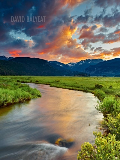 Moraine Valley Rocky Mountain National Park Colorado sunset high-definition HD professional landscape photography