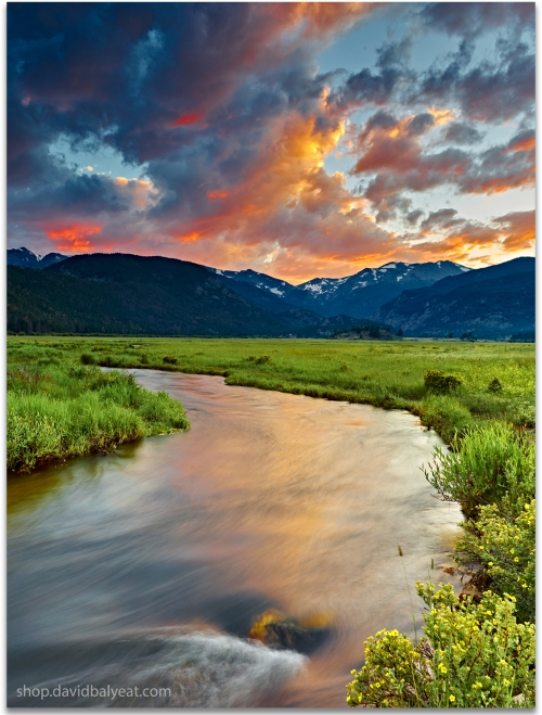 Moraine Valley Rocky Mountain National Park Colorado sunset large format artwork