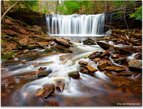 Oneida Falls Ricketts Glen State Park landscape photography artwork