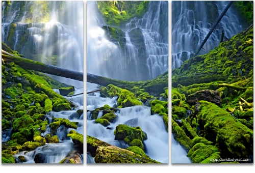 Proxy Falls Oregon 3 panel artwork