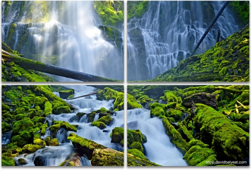 Proxy Falls Oregon 4-panel artwork