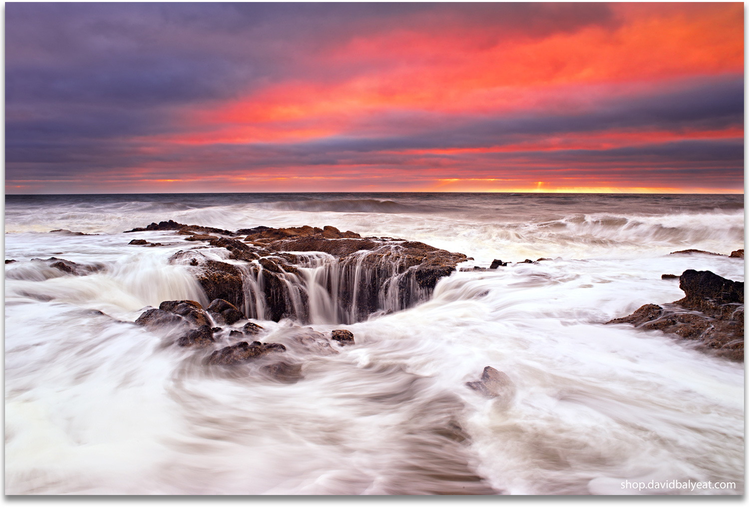 Thor's Well Cape Perpetua Yachats Oregon coast artwork