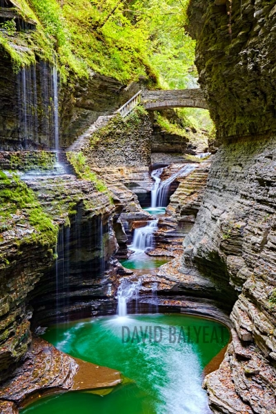 Watkins Glen State Park waterfalls forbidden pool fine art photography