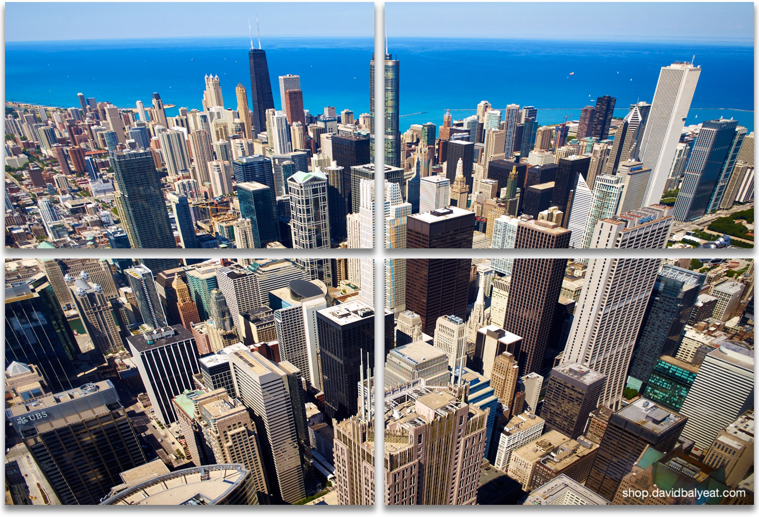 Windy City Chicago Aerial Skyline High Definition HD Cityscape Photography