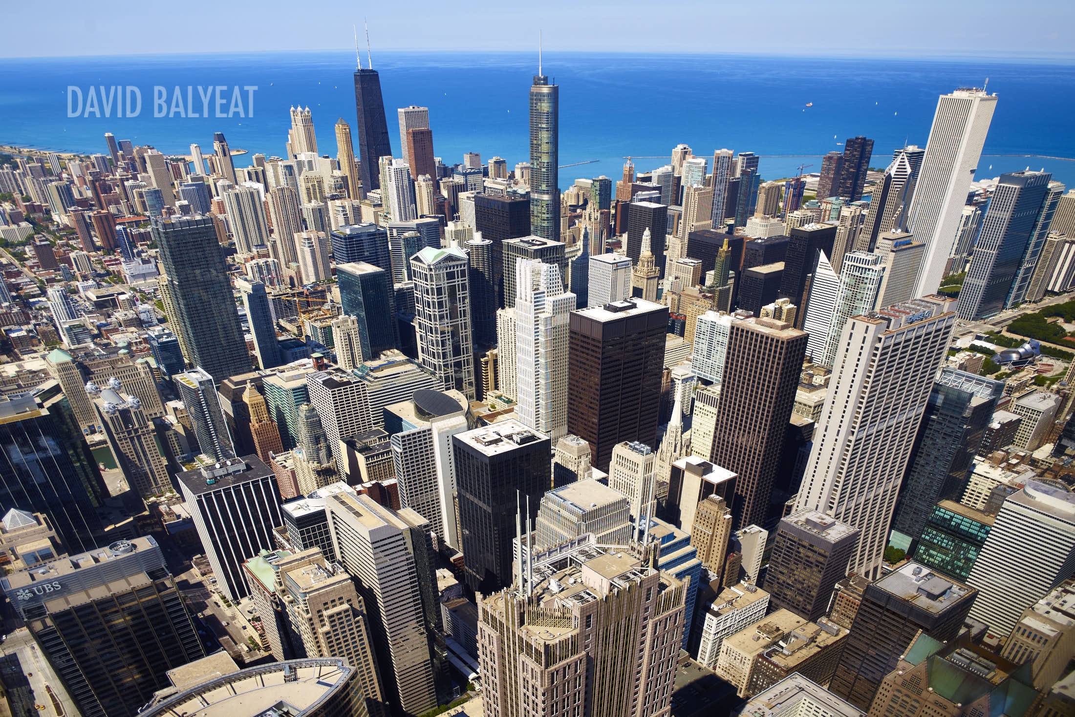 Windy City Chicago aerial skyline high-definition HD cityscape photography