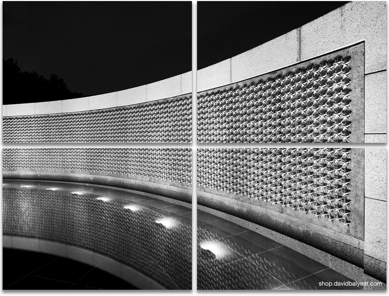 """World War II Memorial Washington D.C. """"Here we Mark the Price of Freedom"""" high-definition HD professional photography"""