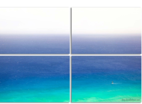 Sail Away Hawaii Sailboat Waikiki Oahu 4 Panel Artwork