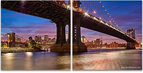 DUMBO Brooklyn New York City 2 Panel diptych Artwork