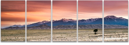 Great Sand Dunes National Park sunrise panoramic