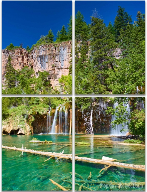 Hanging Lake 4 Panel Artwork