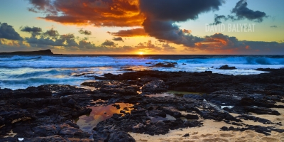 Hawaii sunrise mokapu'u beach Oahu