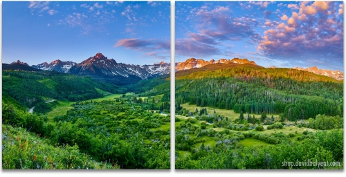 Mount Sneffels Sunrise Colorado San Juan Mountains 2-Panel Artwork
