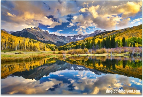 Colorado Autumn reflections mountains fall foliage artwork