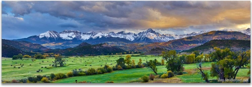 Colorado mountain ranch sunset sneffels autumn 1 panel Artwork