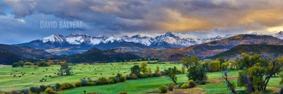 Colorado mountain ranch sunset sneffels autumn fine art photography