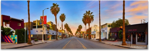 Abbot Kinney Venice Beach California sunrise panoramic professional cityscape artwork
