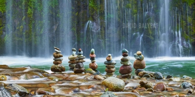 Meditation Zen Cairns waterfalls high-definition HD professional landscape photography