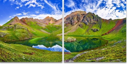 Island Lake San Juan Mountains Colorado 2-Panel Artwork