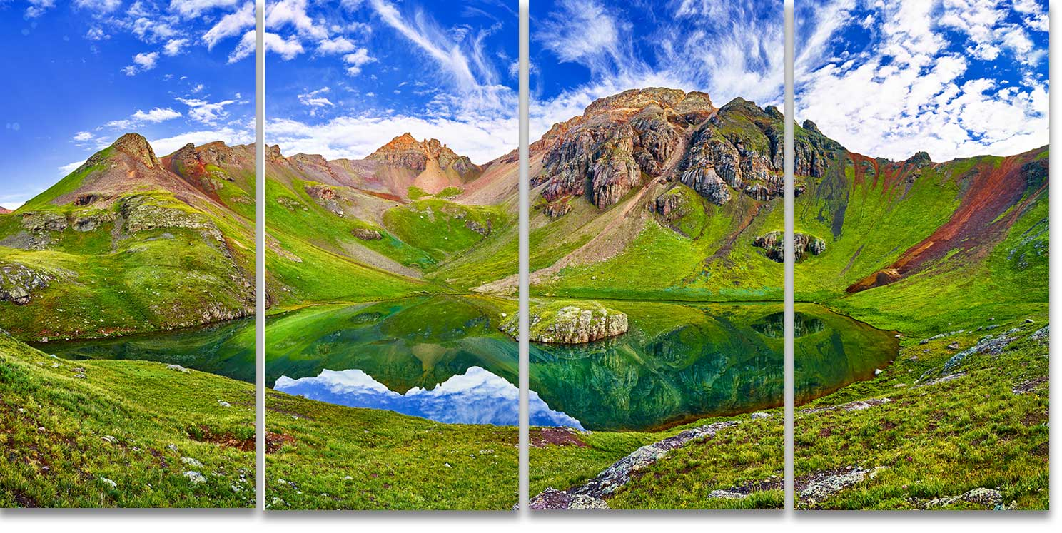 Island Lake San Juan Mountains Colorado 4-Panel Artwork