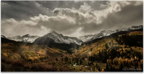 Autumn Radiance Mount Sneffels Sunrays 1 panel artwork wall art