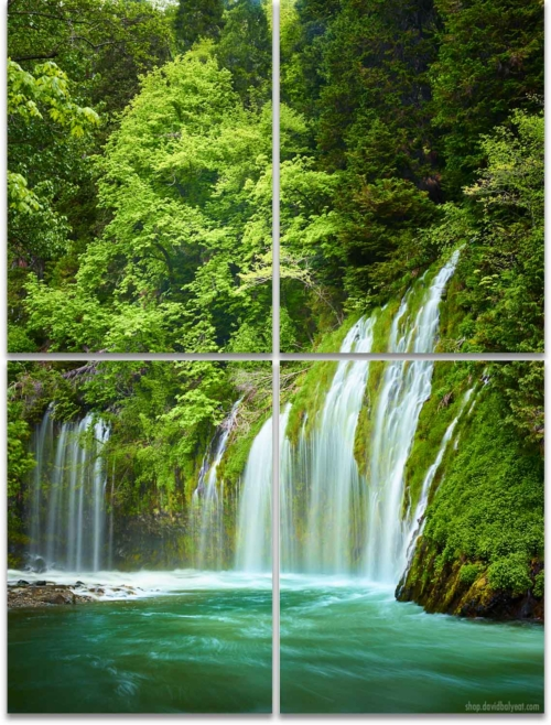 Mossbrae Falls Northern California 4-panel Wall Art
